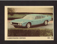 Lamborghini Espada Scarce 1970s Car Sticker Card from Italy #134
