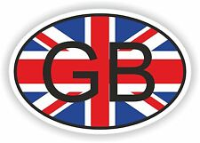 GB GREAT BRITAIN COUNTRY CODE OVAL WITH  FLAG STICKER bumper decal car helmet