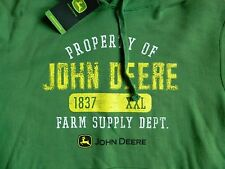 "John Deere""Property of John Deere"" Medium green Mens hoodie"