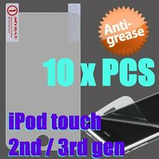 For iPod Touch 2nd 3rd Gen - 10 x PIECES of SCREEN PROTECTORS FILM *Anti-Grease*