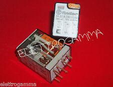 rele relais relay FINDER serie 55.32 230 Volt 10 Ampere  ac + pulsante prova led
