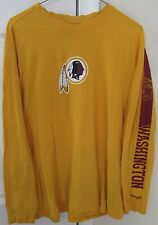 NFL Washington Redskins Mens Long Sleeve Shirt Large EUC