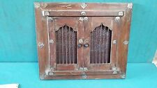 Vintage Old wooden Hand Carved brass fitted window shape Photo / Miror Frame