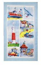 Junto a la playa toalla de té Recuerdo Regalo escenas de playa costera Azul 100% algodón