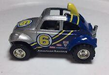 Hot Wheels Vw Beetle Volkswagen Baja Bug 1/64 Real Riders Silver & Blue
