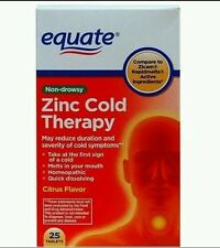 Zinc Cold Terapy 25 Tablets Equate