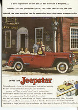 POST CARD OF A MAGAZINE ADVERTISEMENT MEET THE JEEPSTER