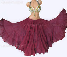 Dark Mulberry 35 Yd  Skirt Gypsy Tribal Fusion Belly Dance ATS