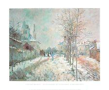 Claude Monet boulevard de pontoise A Argenteuil poster Art Imprimé Image 50x60cm