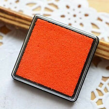 Orange Cute Little Inkpad Stamp Pad Ink Stamp Couples 4x4cm Square Candy Colors