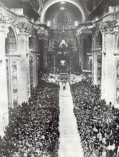 1937 Vintage ACME Photo Pope attends Easter Sunday mass St. Peter's Basilica