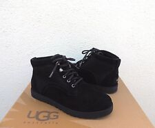 UGG BETHANY CLASSIC SLIM BLACK SUEDE/ SHEEPSKIN BOOTS, US 7.5/ EUR 38.5 ~ NEW