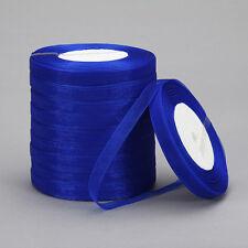 """New 50 Yards 3/8""""10mm Satin Edge Sheer Organza Ribbon Bow Craft Wedding p*p22"""