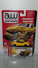 1/64 AUTO WORLD MODERN MUSCLE 2015 FORD MUSTANG GT YELLOW B30