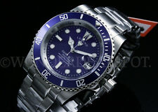 NEW Legend Men's Deep Blue 200M Blue Dial Miyota 2315 Calibar S.S Bracelet Watch