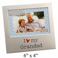 I LOVE MY GRANDAD  ALUMINIUM PHOTO PICTURE FRAME GIFT 6 X 4 - BY JULIANA