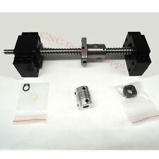 SFU1204Set lead screw ball screw antibacklash ballscrew 1204-600mm-C7+BK/BF10