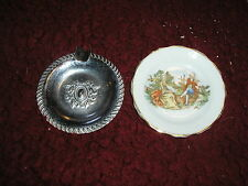 Vintage Occupied Japan ashtray and small ornamental plate