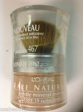 L'Oreal Bare Naturale Mineral Makeup - SAND BEIGE #467 NEW .