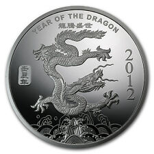 1 oz Year of the Dragon Silver Round - Sealed in Plastic - SKU #65011