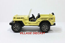 "2010 Matchbox ""Exclusive Editions"" Jeep® Willys MATTE YELLOW/SERGEANT/MINT"