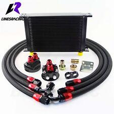 28 Row M20*1.5 & 3/4 Filter Relocation Engine Racing Oil Cooler Kit  For Subaru
