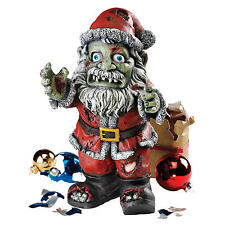Jolly ol St Nicholas Zombie Style Ghoulish Santa Dead Holiday Display Statue
