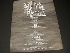 HELLOWEEN Axxis SCORPIONS MSG others 1989 PROMO DISPLAY AD mint condition