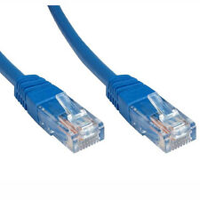 0,5 m red CAT6 UTP de cobre de Gigabit Ethernet Patch Plomo Azul [ 006796 ]