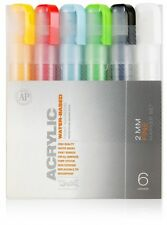 MONTANA CANS ACRYLIC MARKER PEN SET - 2mm FINE MARKERS - 6 PACK