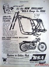 1955 Motor Cycle ADVERT - B.S.A. 'Golden Flash' (Duplex Frame) Print AD