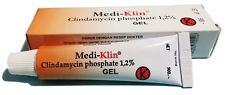 2xMedi-Klin Gel 15gm 1.2% For Bacterial Anaerobic Skin Infections Acne Treatment