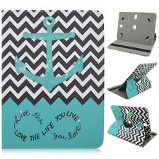 "For Samsung Galaxy Tab 3 8"" Tablet Green Chevron Anchor Love Case Fits 7.5-8.5"