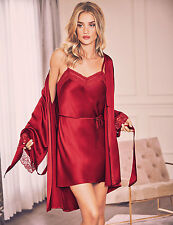 M & S Rosie for Autograph designer silk red Dressing Gown  size 10