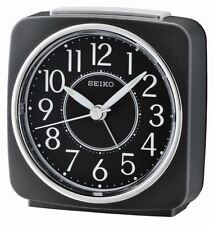 Seiko Beep Alarm Clock with Snooze - Black