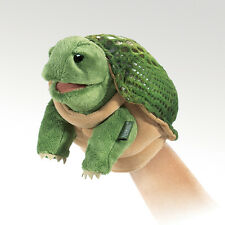 *NEW* PLUSH SOFT TOY Folkmanis 2968 Little Hands Green Turtle Hand Puppet
