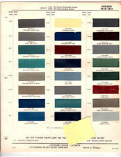 1950 1951 HUDSON COMMODORE SUPER WASP PACEMAKER HORNET PAINT CHIPS DITZLER 3