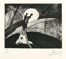 GREGOR TORSTEN KOZIK - Herbstnacht - Radierung 1979