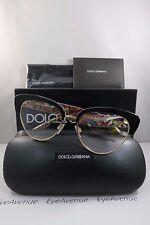 Dolce & Gabbana DG 3247 3033 Black New Limited Edition Sicilian Carretto 53mm