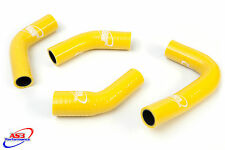 YAMAHA RD RZ 350 YPVS HIGH PERFORMANCE SILICONE RADIATOR HOSES YELLOW