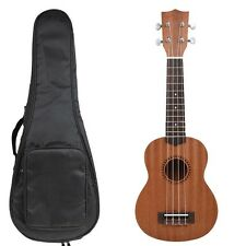 "NAOMI Ukulele 21"" Mahogany Neck Wooden Soprano Ukulele & Carrying Bag SET"