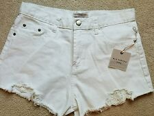 Blu Pepper White Denim Lace Trim Shorts Size M
