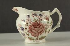 Vintage Johnson Brothers English China ROSE CHINTZ Transferware Creamer Pitcher