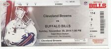 2014 BUFFALO BILLS VS CLEVELAND BROWNS TICKET STUB 11/30/14