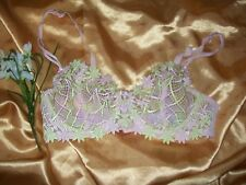 Avon pink/lime floral normal strap underwired embroidered balcony bra 34C