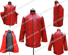 Michael Jackson Cosplay Costume Beat It Red Zipper Jacket High Quality All-match