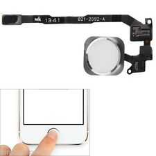 TASTO CENTRALE HOME BUTTON COMPLETO FLAT FLEX IMPRONTA PER IPHONE 5S BIANCO