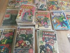 1 box lot 50 OLD COMICS MARVEL DC batman xmen flash cable action betwctive hulk