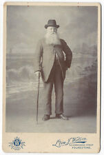 CABINET CARD Photograph Man with Large Beard by Watson of Folkestone