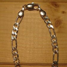 Man chain 4mm silver 925 sterling figaro or curb (choice designs & sizes)